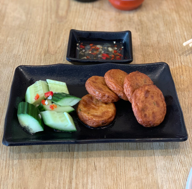 Thai Fish Cake with Cucumber Salad