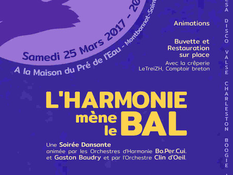 L'Harmonie mène le Bal – Samedi 25 mars 2017
