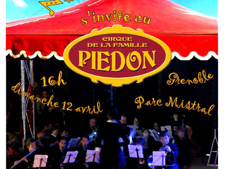 L'Orchestre NénupHarmonie s'invite au Cirque de la famille Piédon – Dimanche 12 avril 2015