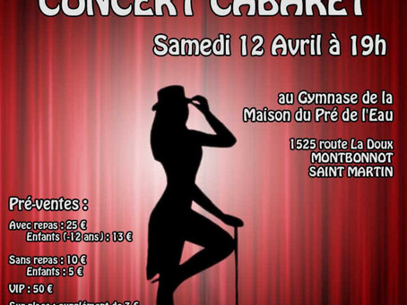 Concert-Cabaret / Soirée Dansante – 12 avril 2014