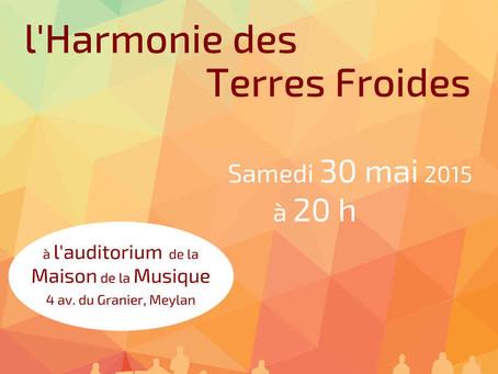 L'Harmonie Gaston Baudry reçoit l'Harmonie des Terres Froides – Samedi 30 mai 2015