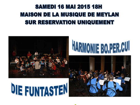 L'Harmonie Bo.Per.Cui reçoit l'orchestre d'accordéon de Planegg – Samedi 16 mai 2015