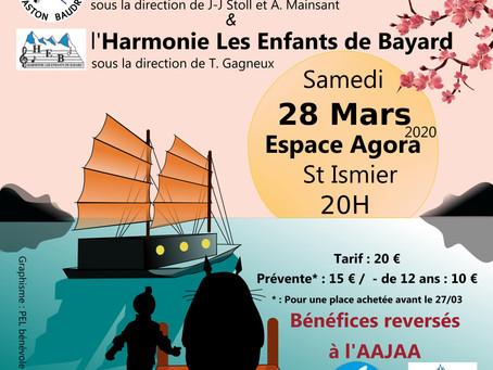 Concert caritatif au profit de l'AAJAA 28 mars 2020