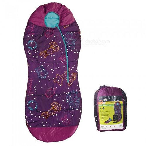 AceCamp Kids Sleeping Bag Glow-in-the-Dark Mummy Bag Bottom Seal Velcro Enclosed