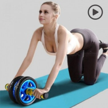 Sport no-noise abdominal wheel muscle trainer