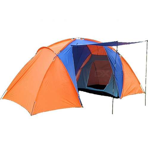 ESAMACT Waterproof Large Double Layer Two Bedroom Camping Tent for 3 - 4 Persons