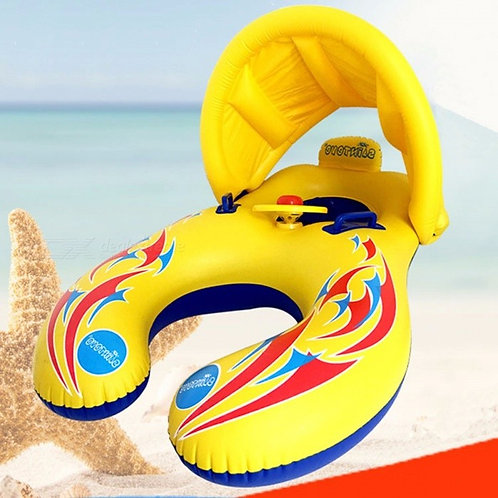Baby Swimming Ring With Visor Mother And Children Swim Circle Inflatable Safety