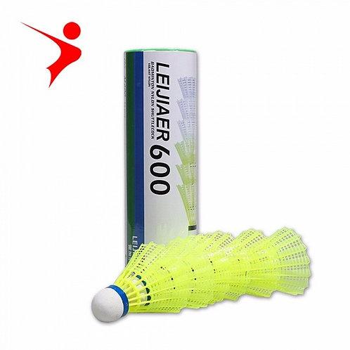 6 PCS Training Exercise Nylon Yellow Shuttlecocks Badminton Balls