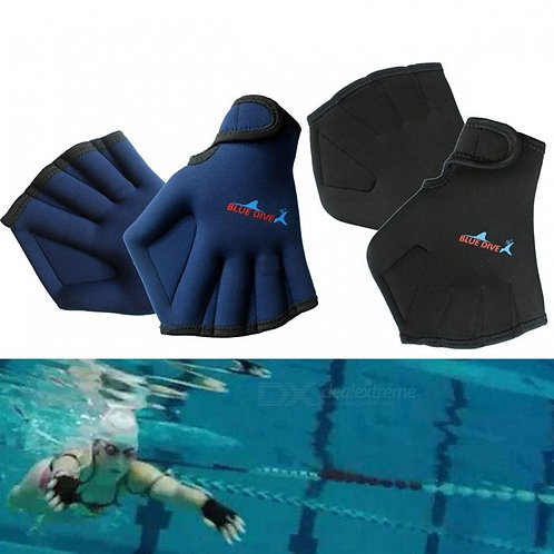 Adult Swimming Paddle Gloves, Hand Webbed Swim Training Gloves, Duck Palm Diving