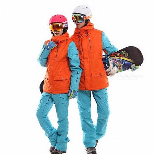 Waterproof snowboarding set couples windproof breathable ski suit women men snow