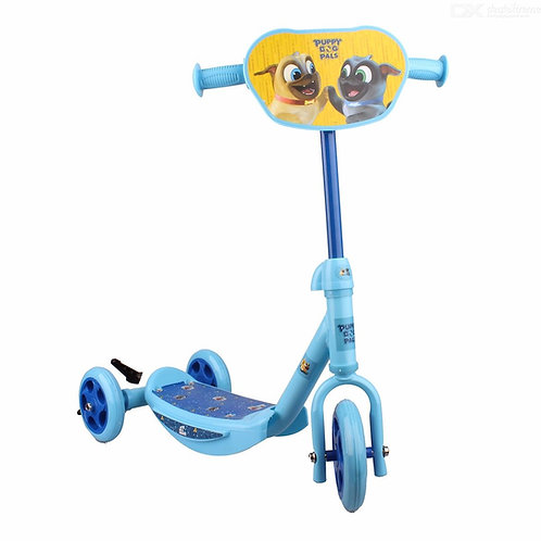 Disney Puppy Dog Pals Mini Scooter For Kids, Childrens Cartoon Scooter W/1 PC As