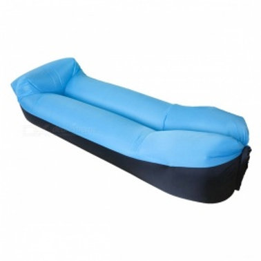 Inflatable air sleeping sofa bag and pillow