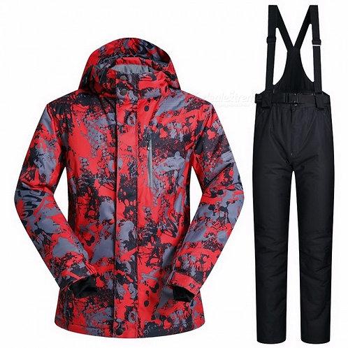 Outdoor Winter Men's Thermal Waterproof Windproof Snowboard Jackets Pants Ski