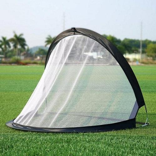 2 Pieces Soccer Football Goal Net Folding Black Training Goal Net Tent Kids