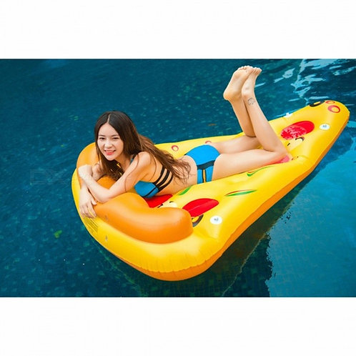 180*150cm Giant Inflatable Pizza Pool Float Ride-On Swimming Ring Water Holiday