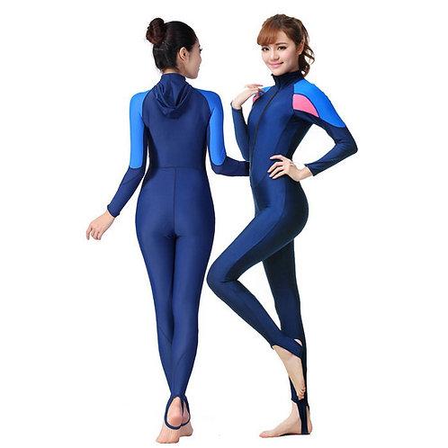Women's Nylon Snorkeling Dive Skin - Blue