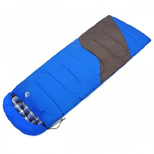 Hasky Outdoor Adult Camping Envelope Style Sleeping Bag - Blue