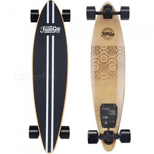 "Teamgee Electric Skateboard | 37"" Portable Motorized Penny Board - Black"