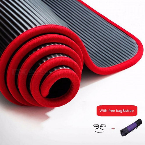 Covered Non-slip 10mm Sports Yoga Mat