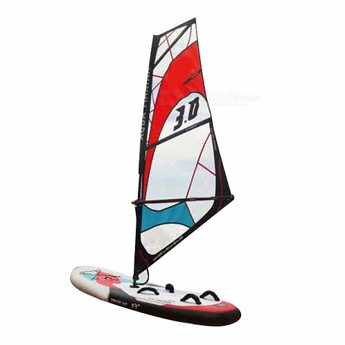 Inflatable Stand Up Sailboard Surf Board Set with Carry Bag