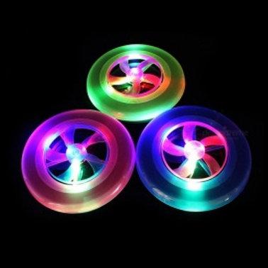Flying plastic LED Disk Light Frisbees