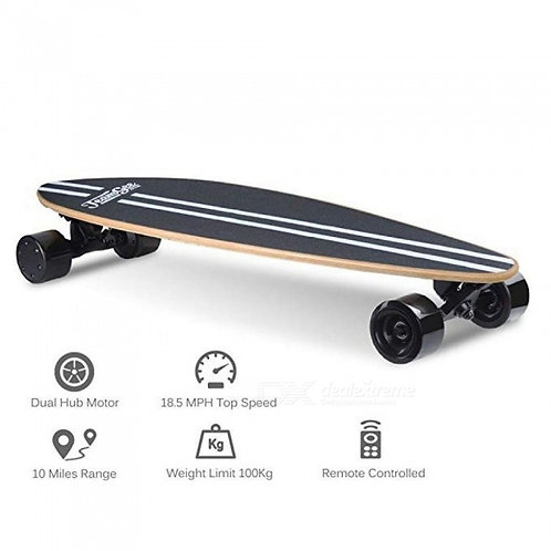Electric Skateboard Portable Motorized Penny Board Wireless Remote Controlled
