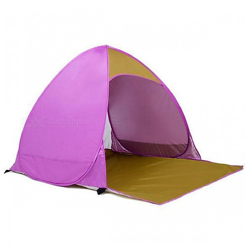 Outdoor Portable Automatic Pop Up 2 Person Beach Tent - Pink + Red