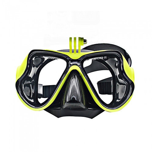 XSUNI YJ-001 Tempered Glass Diving Snorkeling Scuba Mask, Adult Silicone