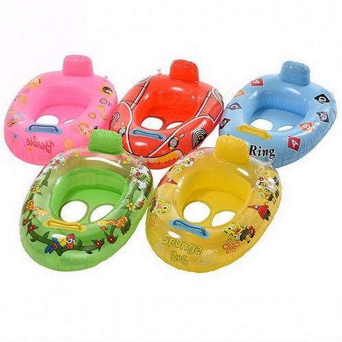 Portable Summer Baby Kids Cartoon Safety Swimming Ring Inflatable Swim Float
