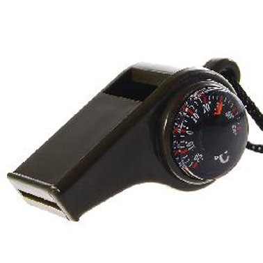 3-in-1 Survivor Whistle with Compass & Thermometer