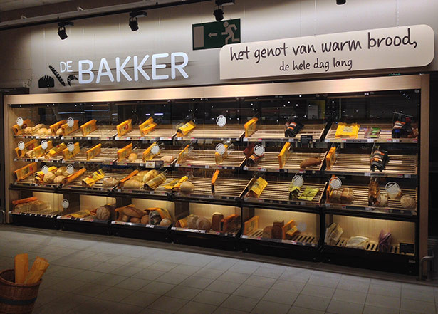 A new bakery display unit by Wauters!