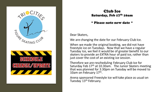 Club Ice Update