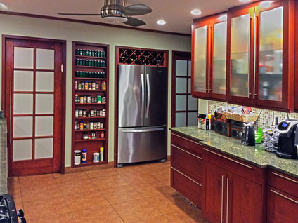 Cherry & Glass Kitchen