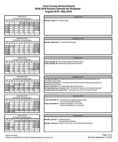 Vassiliadis Ccsd Calendars