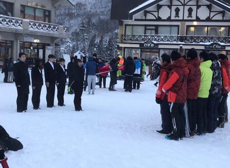12/28 第58回国立九大学スキー選手権大会開会式感想
