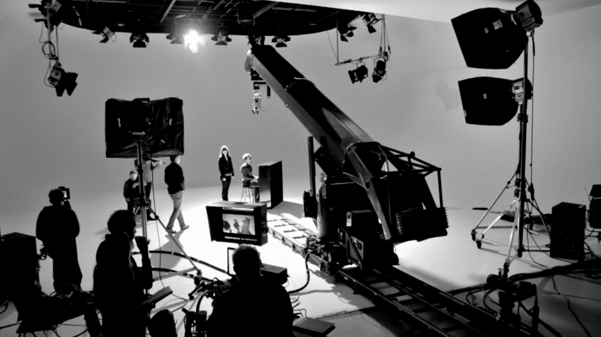 The Daydream Club on set w/ Burberry