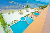 HOL CHAN RESORT RESERVATIONS! New Beautiful   Belize Resort with Oceanfront Villas for rent by owner. Pool kayaks Close to San Pedro Town south Ambergris Caye VACATION oceanfront