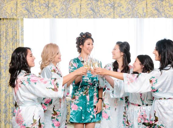 Colorful Brides and Bridesmaids Getting Ready at Quail Ranch