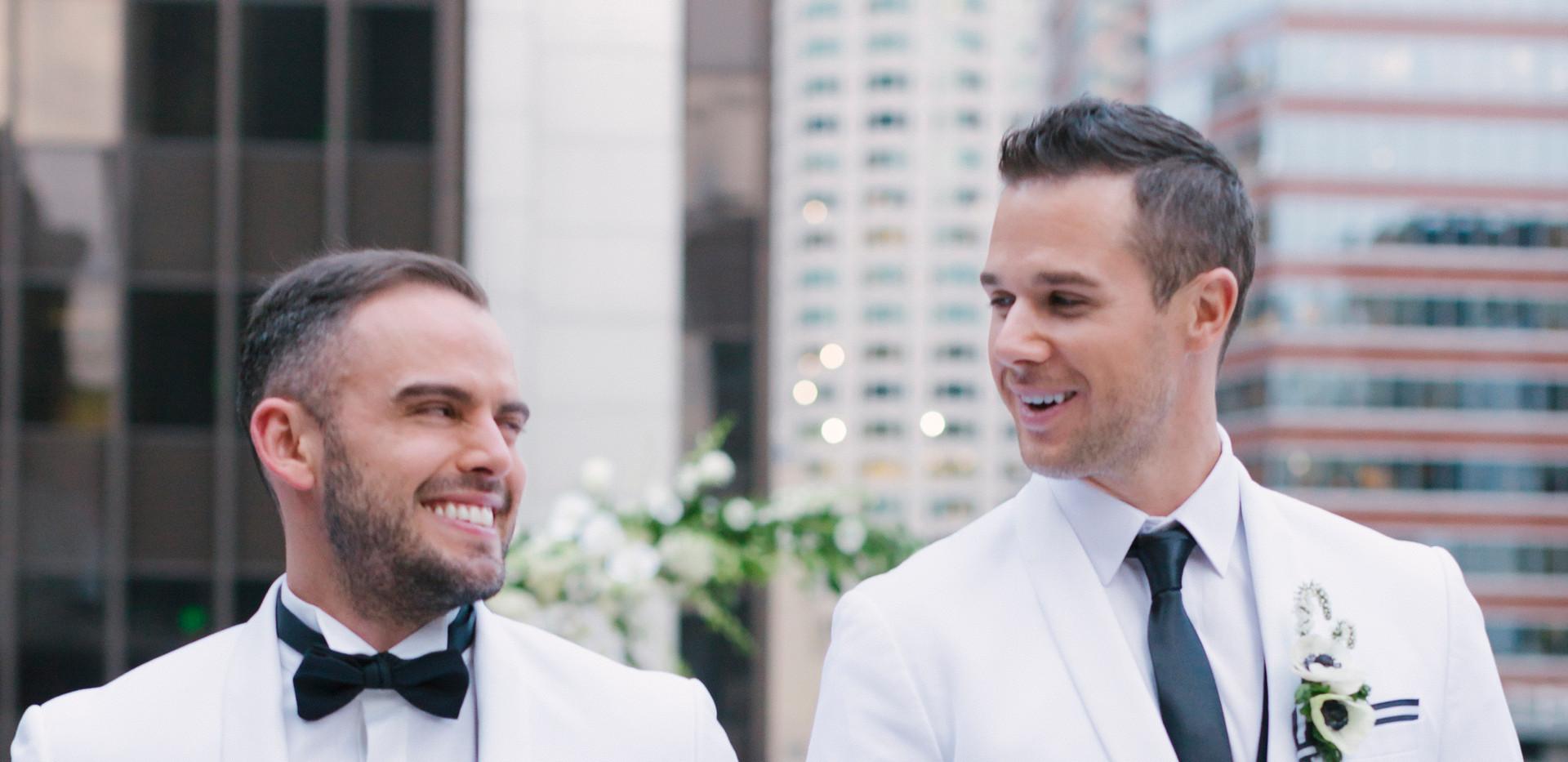 Newly Wed Couple DTLA Skyline Wedding