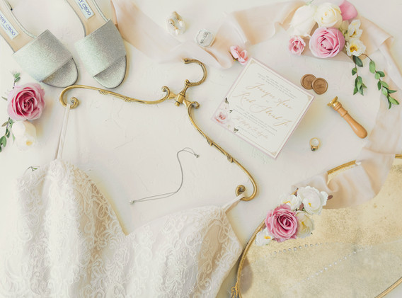 Blush and White Wedding Day Details