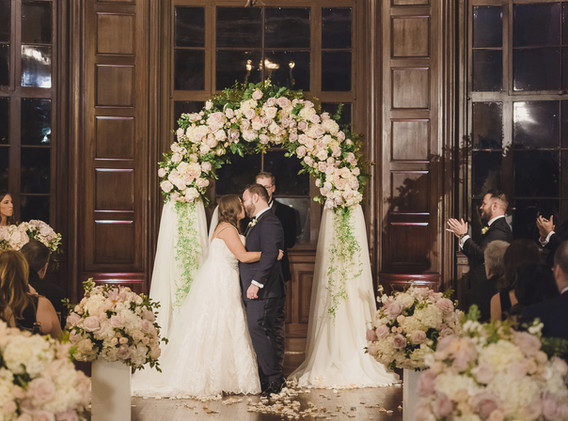 Old Hollywood Glam Wedding Ceremony at Historic Ebell of Los Angeles