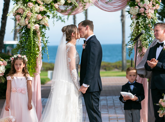 Santa Barbara Ocean Veiw Wedding Ceremony