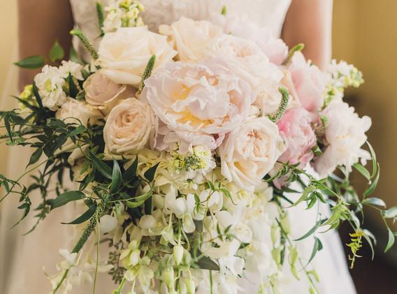 Blush and White Wedding Flower Bouquet