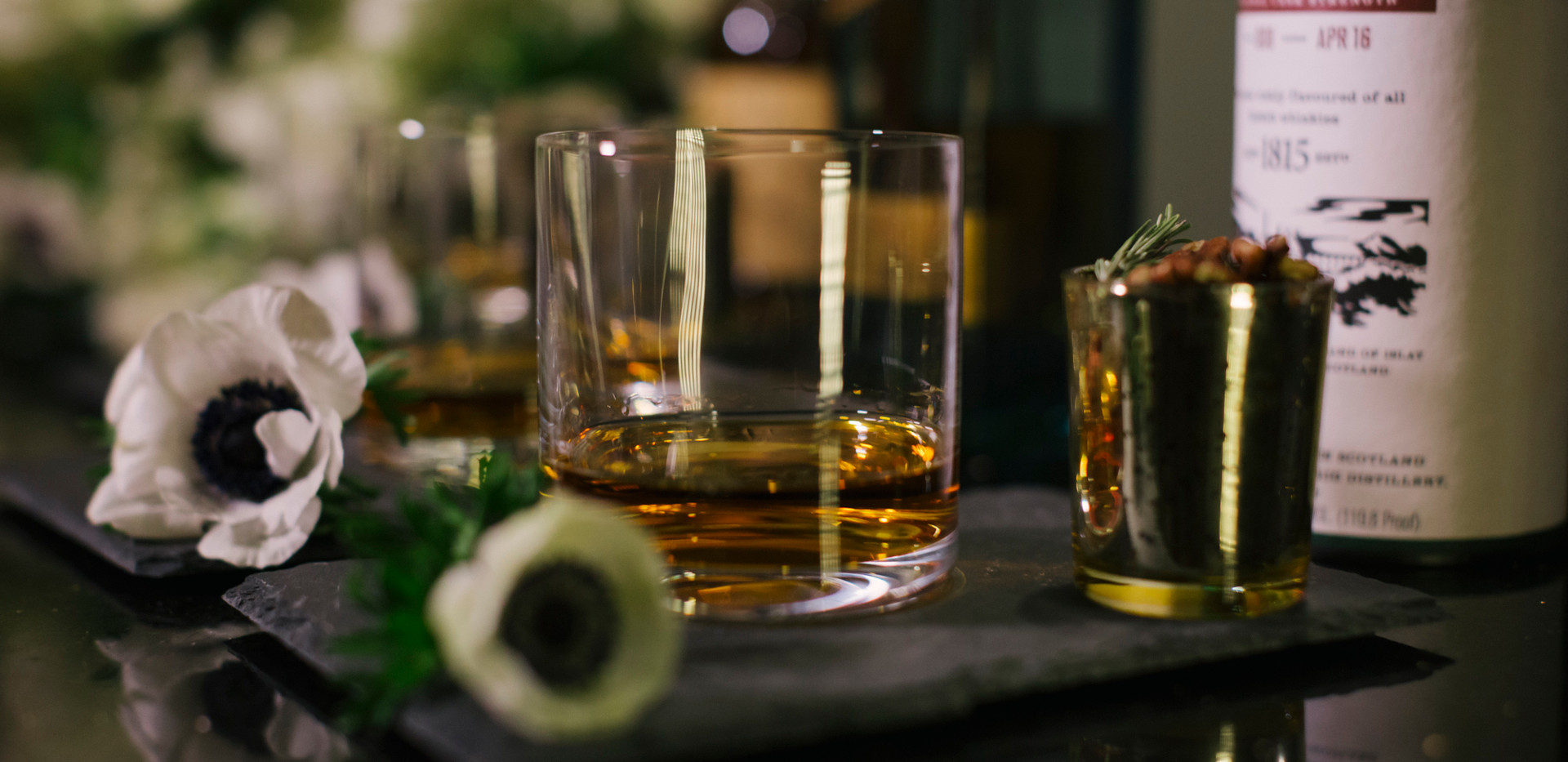 Black and White Downtown Los Angeles Wedding Whiskey Bar