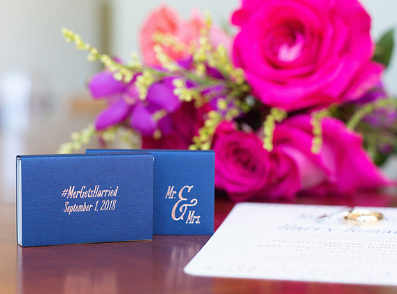 Navy Blue Wedding Favors