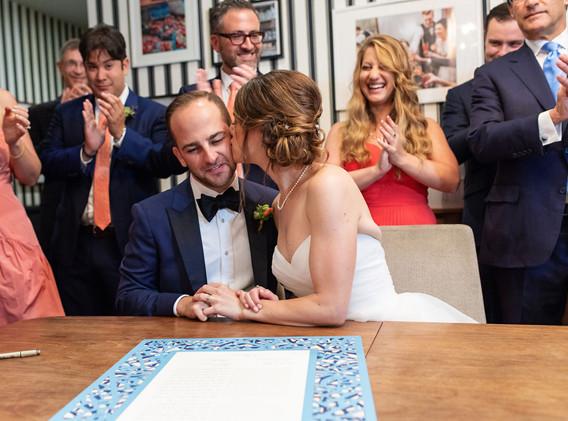 Jewish Ketubah Signing