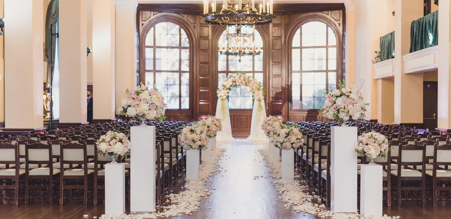 Ebell of Los Angeles Classic Wedding Ceremony