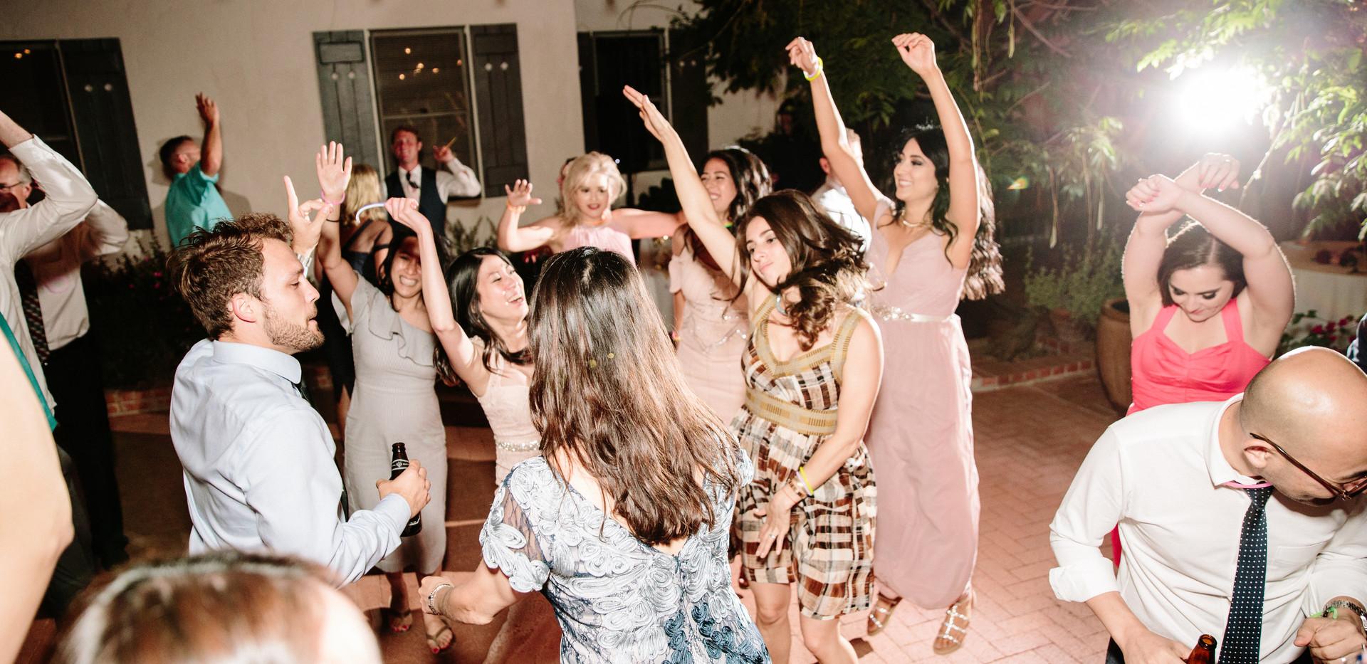Guests Enjoy Fun Wedding Reception
