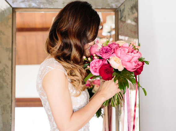 Pink, Red, and White Flower Bouquet