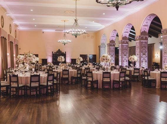 Los Angeles Blush and White Wedding Reception